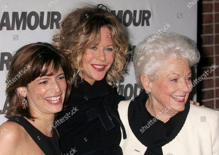Cindi Leive, Meg Ryan and Ann Richards