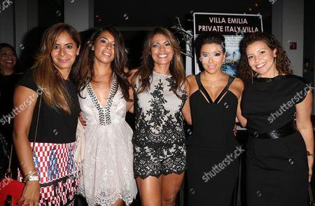 Christina Vidal, Lisa Vidal, Eva Longoria, Justina Machado and guest