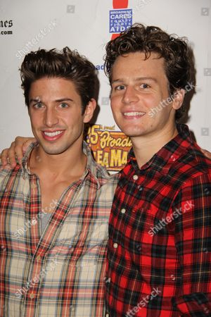 Stock Picture of Nick Adams, Jonathan Groff