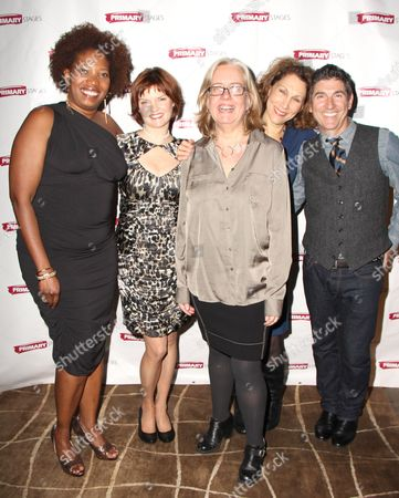 Saidah Arrika Ekulona, Mary Bacon, Director Lisa Peterson, Randy Graff and James Lecesne