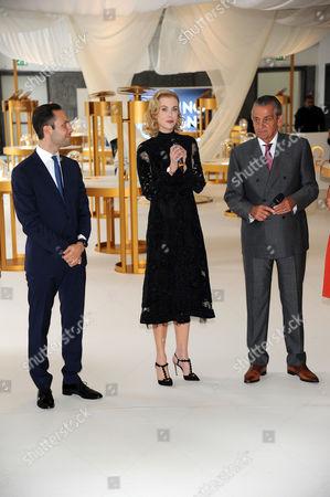 Stephen Urquhart, Malik Bey, Nicole Kidman (wearing Valentino)