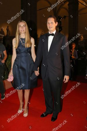 John Elkann and Lavinia Borromeo