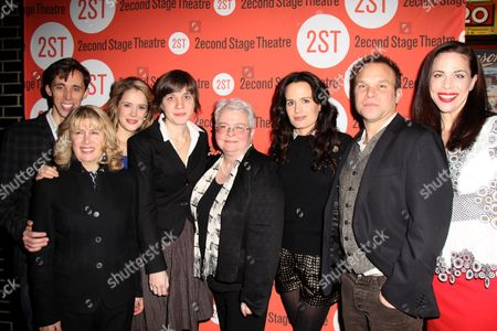 Kevin Cahoon, Second Stage Artistic Director Carole Rothman, Marnie Schulenburg, Director Kate Whoriskey, Playwright Paula Vogel, Elizabeth Reaser, Norbert Leo Butz, Jennifer Regan