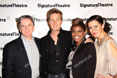 James Houghton, Edward Norton, Katori Hall and Patricia McGregor