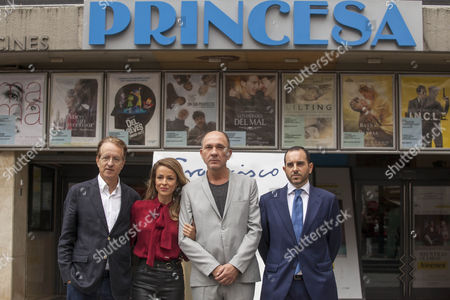 director Beda Docampo Feijoo, actor Dario Grandinetti and actress Silvia Abascal attend 'Francisco' photocall at the Princesa cinema on September 15, 2015 in Madrid, Spain