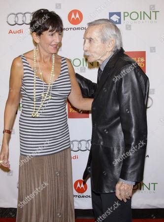 Mercedes Ruehl and Edward Albee