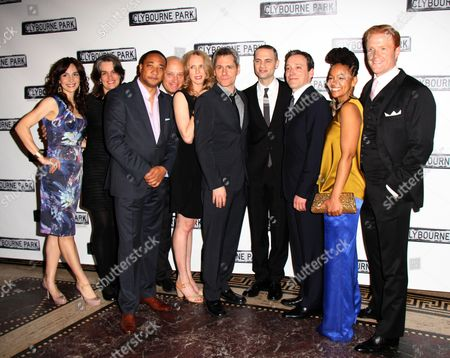 Annie Parisse, Director Pam MacKinnon, Damon Gupton, Frank Wood, Christina Kirk, Playwright Bruce Norris, Producer Jordan Roth, Jeremy Shamos, Crystal A Dickinson, Brendan Griffin