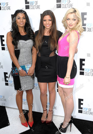 Stock Photo of Dina Eastwood, Morgan Eastwood and Francesca Fisher-Eastwood