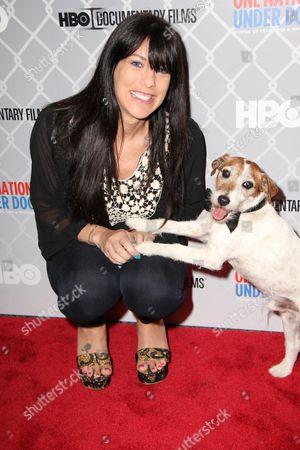 Jenna Morasca and Uggie the dog