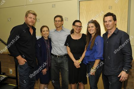 Stock Picture of Michael Cudlitz, Jonathan Lisco (Executive Producer 'Southland'), Sara Gran (Executive Story Editor 'Southland'), Heather Zuhlke and Shawn Hatosy