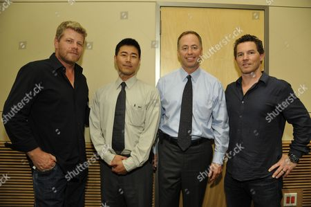 Stock Image of Michael Cudlitz, Steve Park, JD Clifford and Shawn Hatosy