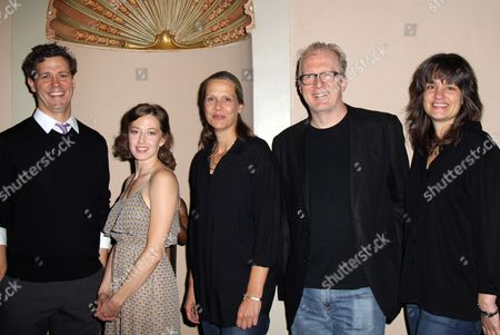 Stock Image of Madison Dirks, Carrie Coon, Amy Morton, Tracy Letts, Director Pam MacKinnon