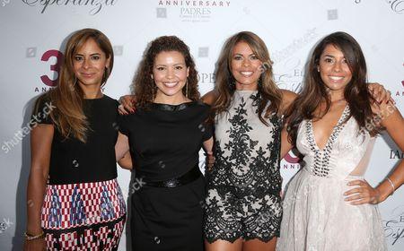Justina Machado, Lisa Vidal, Christina Vidal and guest