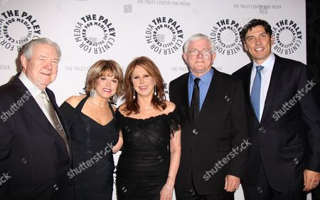 Hearst Corporation Vice Chairman/CEO Frank Bennack Jr, Paley Center President/CEO Pat Mitchell, Marlo Thomas, Phil Donohue, AOL CEO/Chairman Tim Armstrong