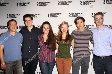 Playwright Josh Harmon, Philip Ettinger, Tracee Chimo, Molly Ranson, Michael Zegen, Director Daniel Aukin