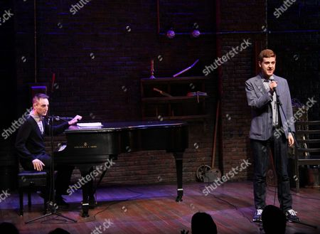 Editorial photo of 'Murder for Two' musical cast album release party, New York, America - 13 Jan 2014