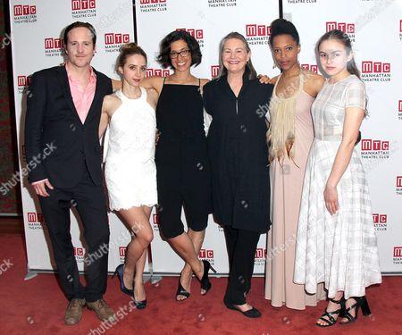 Patch Darragh, Zoe Kazan, Playwright Sarah Treem, Cherry Jones, Cherise Boothe, Morgan Saylor
