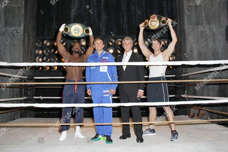 Terence Archie, Gennady Golovkin, Michael Buffer, Andy Karl