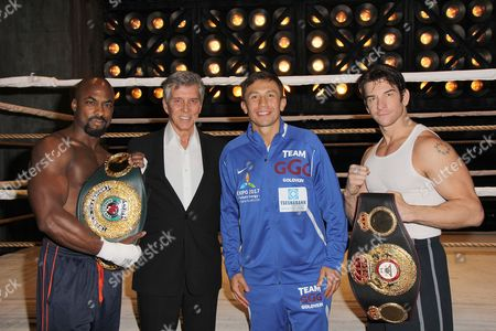 Stock Picture of Terence Archie, Michael Buffer, Gennady Golovkin, Andy Karl