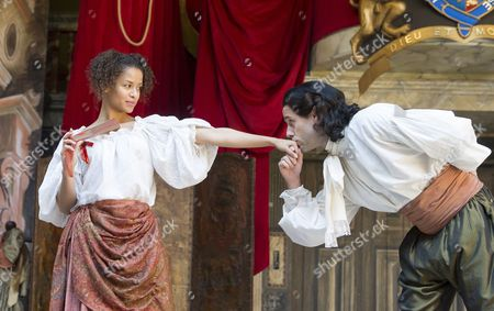 Gugu Mbatha-Raw as Nell Gwynn, Jay Taylor as Charles Hart