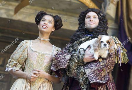 Gugu Mbatha-Raw as Nell Gwynn, David Sturzaker as King Charles II