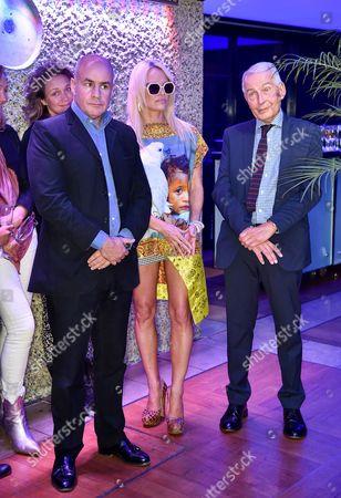Johan Eliasch, Pamela Anderson, Frank Field