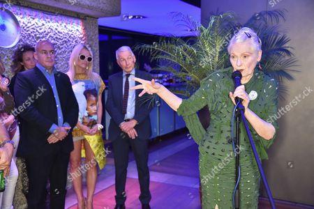 Johan Eliasch, Pamela Anderson, Frank Field and Dame Vivienne Westwood,