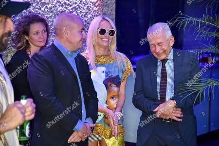 Johan Eliasch, Pamela Anderson with Frank Field and guests