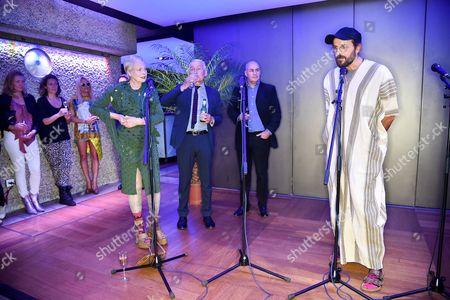 Pamela Anderson, Dame Vivienne Westwood, Frank Field, Johan Eliasch and guests