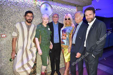 Andreas Kronthaler, Dame Vivienne Westwood, Johan Eliasch, Pamela Anderson, Frank Field and Matthew Qwen