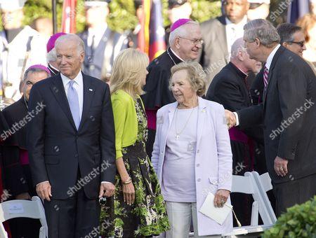 Stock Picture of Vice President Joe Biden, Jill Biden and Mrs. Ethel Shakel Kennedy
