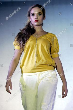 Cambridge student Allegra Feltz, the daughter of Vanessa Feltz, taking part in the university fashion show