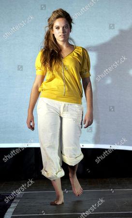 Cambridge student Allegra Feltz, the daughter of Vanessa Feltz, who took part in the university fashion show