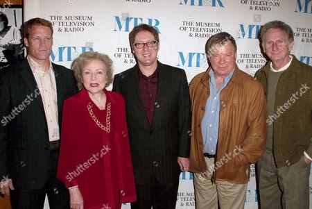 Mark Valley, Betty White, James Spader, William Shatner and Rene Auberjonois