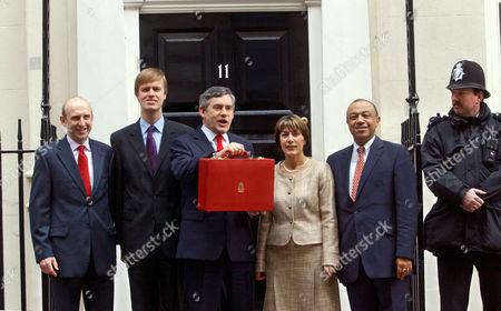John Healy, Steven Tims, Gordon Brown, Dawn Primarolo and Paul Boateng