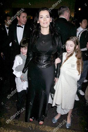 Nigella Lawson with her son Bruno and daughter Cosima
