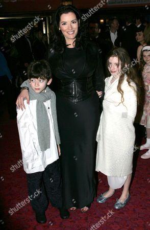Nigella Lawson and her children Bruno and Cosima