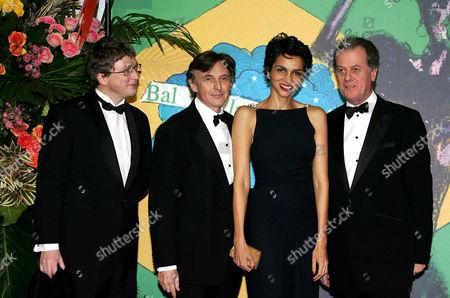 Henri Seydoux, Pierre Passebon, Farida Khelfa and Jacques Grange
