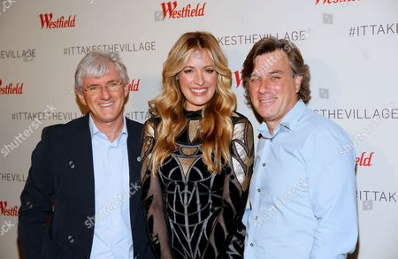 Stock Image of Steven Lowy, Cat Deeley and Peter Lowy