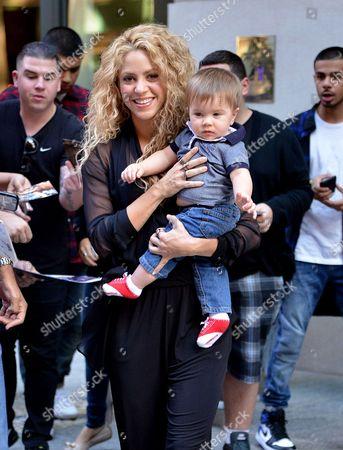 Shakira with son Sasha Pique