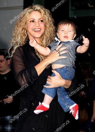Stock Image of Shakira with son Sasha Pique