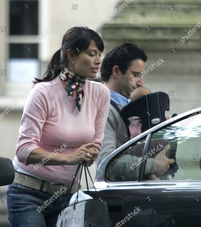 Melanie Sykes, husband Daniel Caltagirone and son Valentino Luca