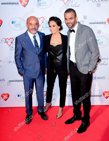 Christian Louboutin, Axelle Francine and Tony Parker