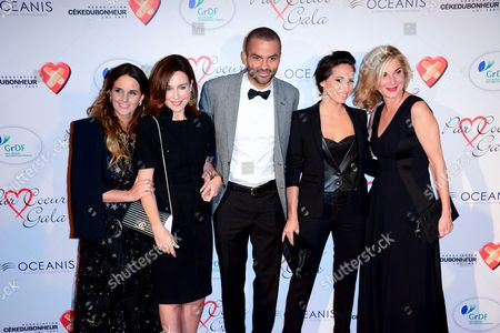 Helene Sy, Elsa Zylberstein, Tony Parker, Axelle Francine and Michele Laroque