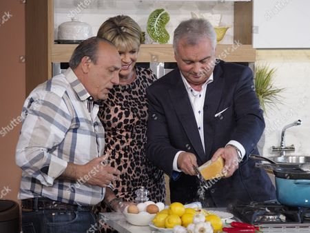 Gennaro Contaldo with Ruth Langsford and Eamonn Holmes