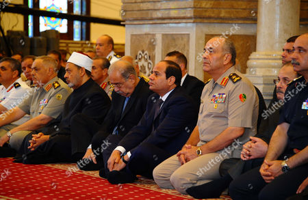 Editorial picture of Egyptian President Abdel-Fattah el-Sissi at Eid al-Adha prayers in New Cairo, Egypt - 24 Sep 2015