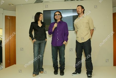 Bono, wife Ali Hewson and Designer Rogan Gregory