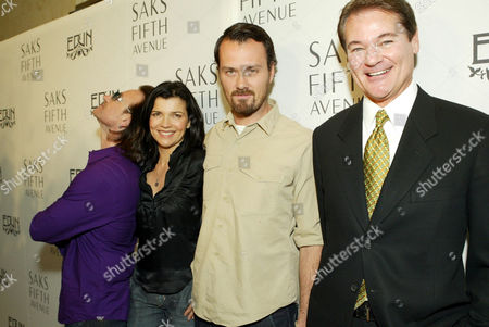 Bono, wife Ali Hewson, designer Rogan Gregory and Saks Fifth Avenue's Tom Voltin