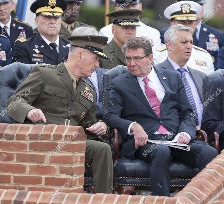General Joseph Dunford speaks with Secretary of Defense Ashton Carter