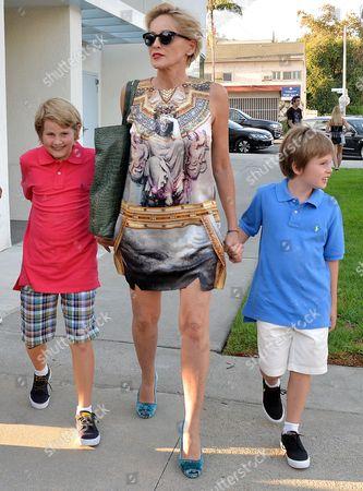Stock Image of Sharon Stone, Laird Vonne Stone, Quinn Kelly Stone